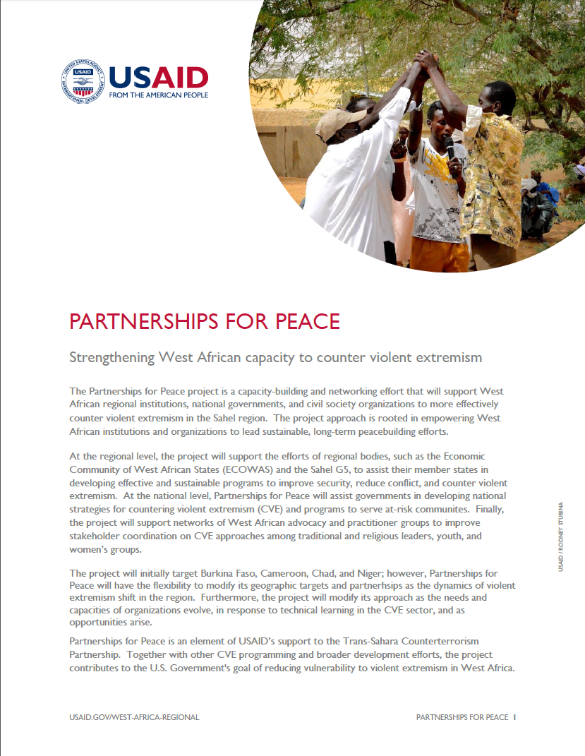 Click here to download the Fact Sheet on Partnerships for Peace