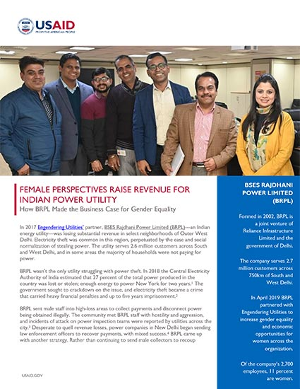 Female Perspectives Raise Revenue for Indian Power Utility