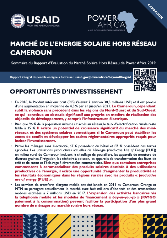 Power Africa: Market Assessment Brief Cameroon French