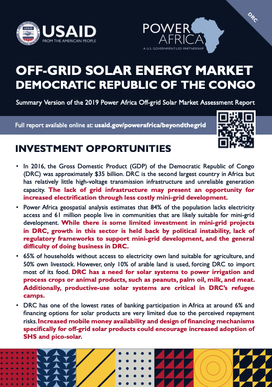 Power Africa: Market Assessment Brief DRC English