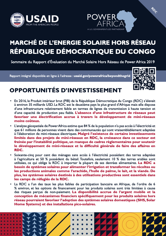 Power Africa: Market Assessment Brief DRC French