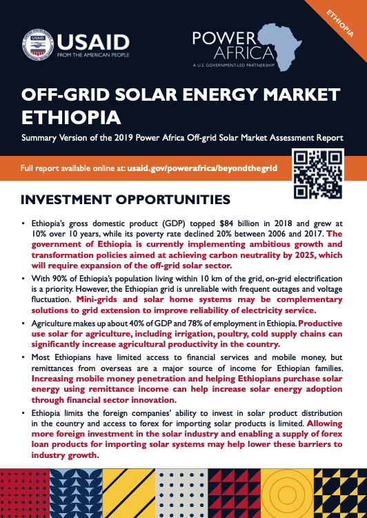 Power Africa: Market Assessment Brief Ethiopia English