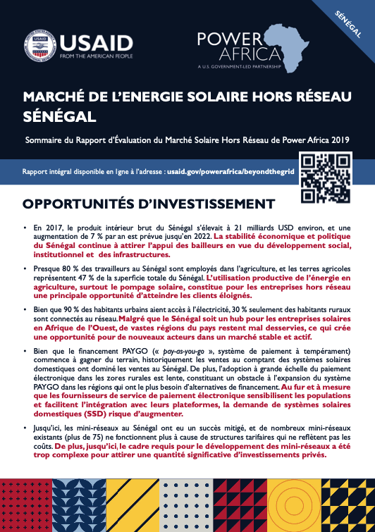 Power Africa: Market Assessment Brief Senegal French