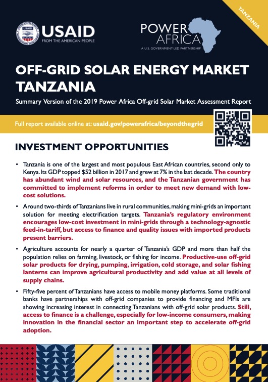 Power Africa: Market Assessment Brief Tanzania English
