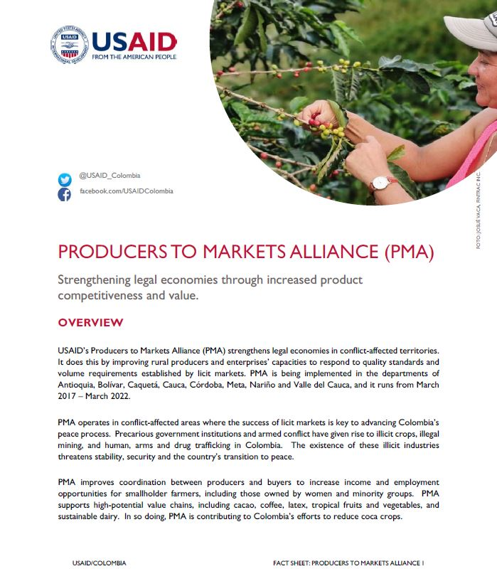 Producers to Markets Alliance Fact Sheet