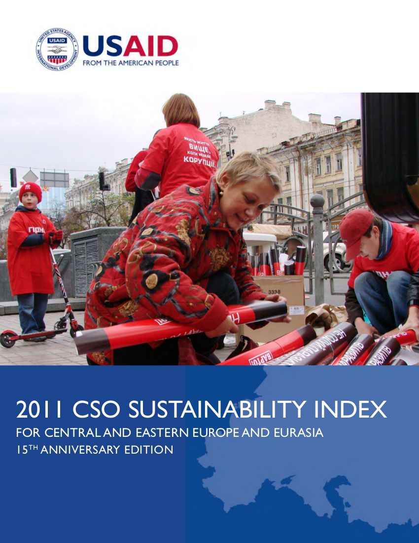 2011 CSO Sustainability Index for Central and Eastern Europe and Eurasia