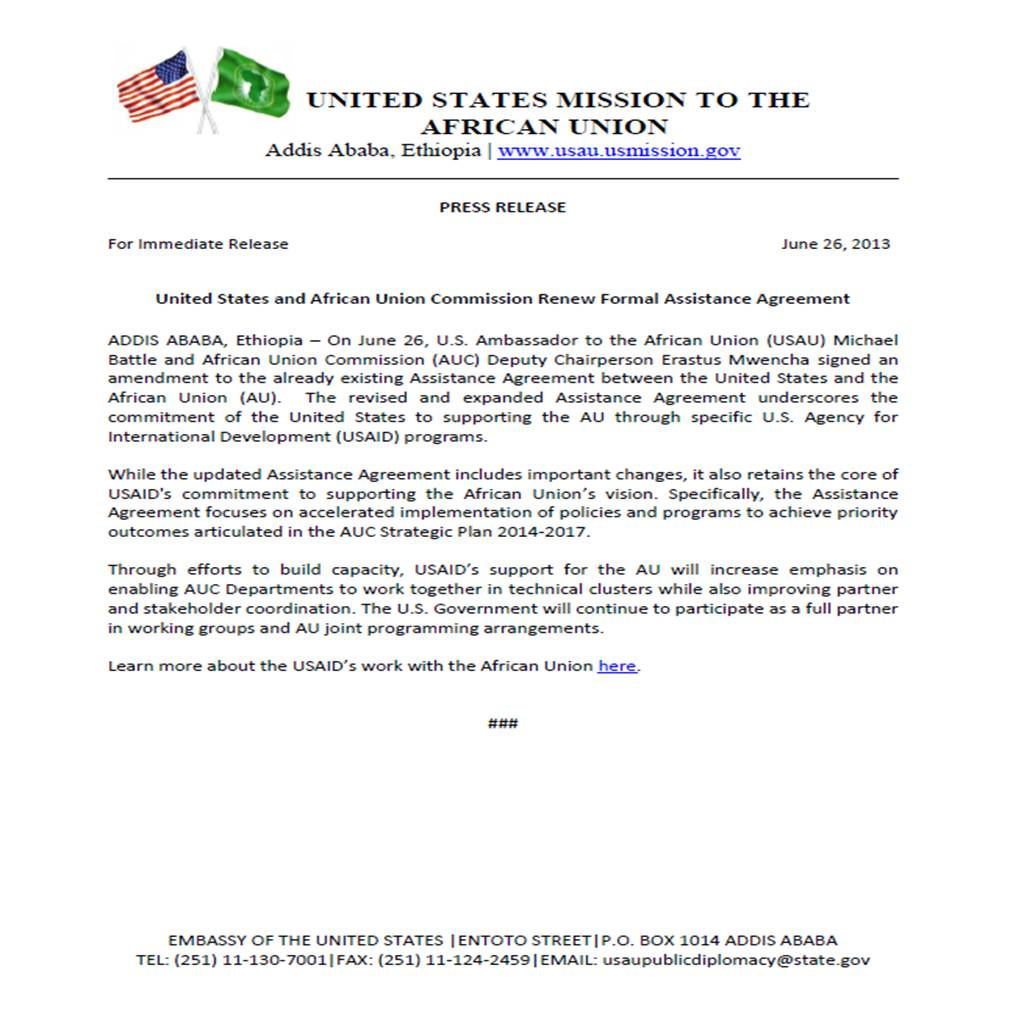 United States Mission To The African Union