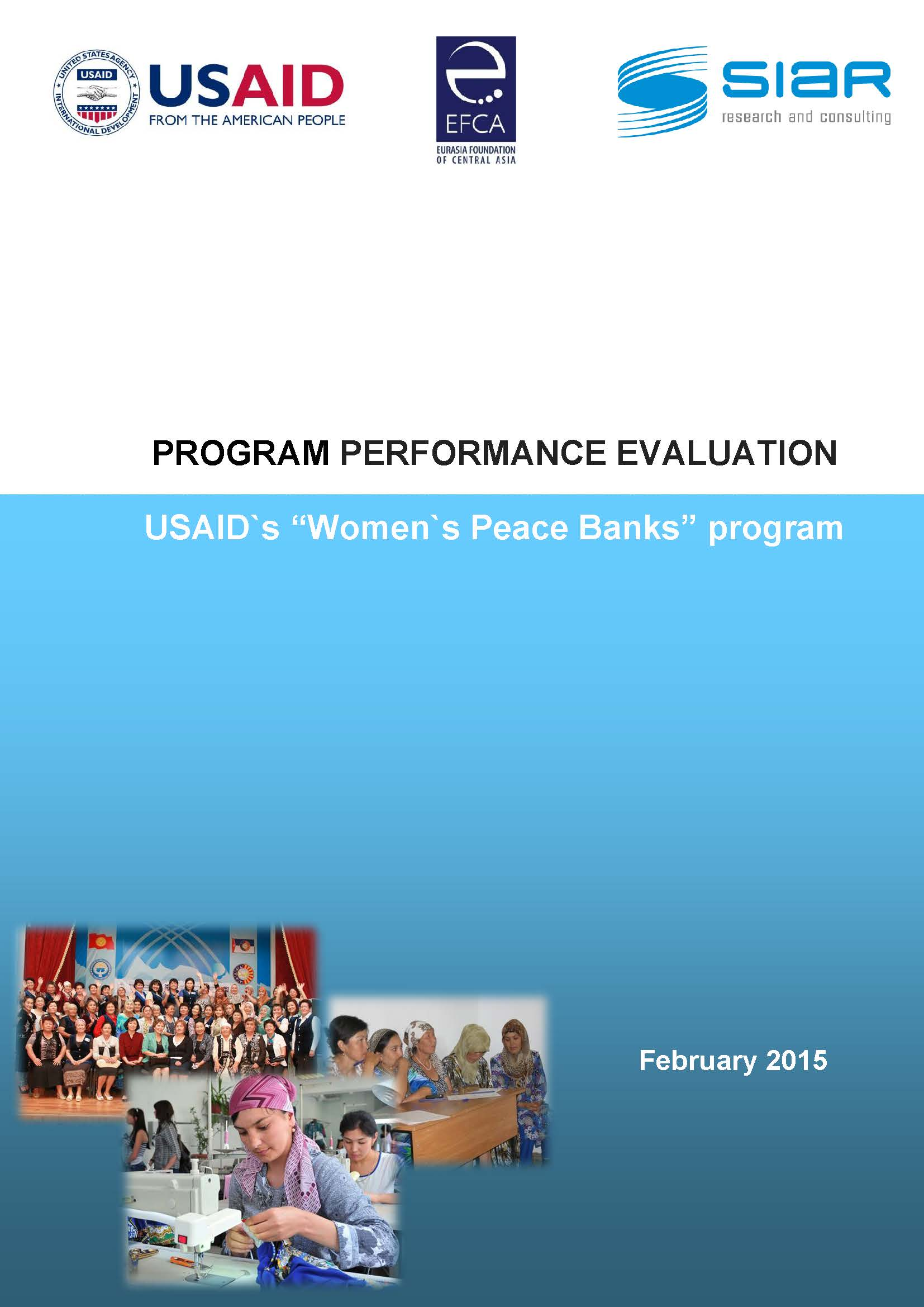 PROGRAM PERFORMANCE EVALUATION: Women's Peace Banks