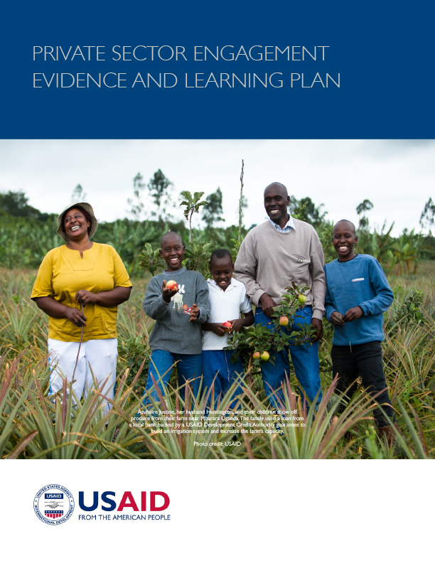 Private-Sector Engagement Evidence and Learning Plan