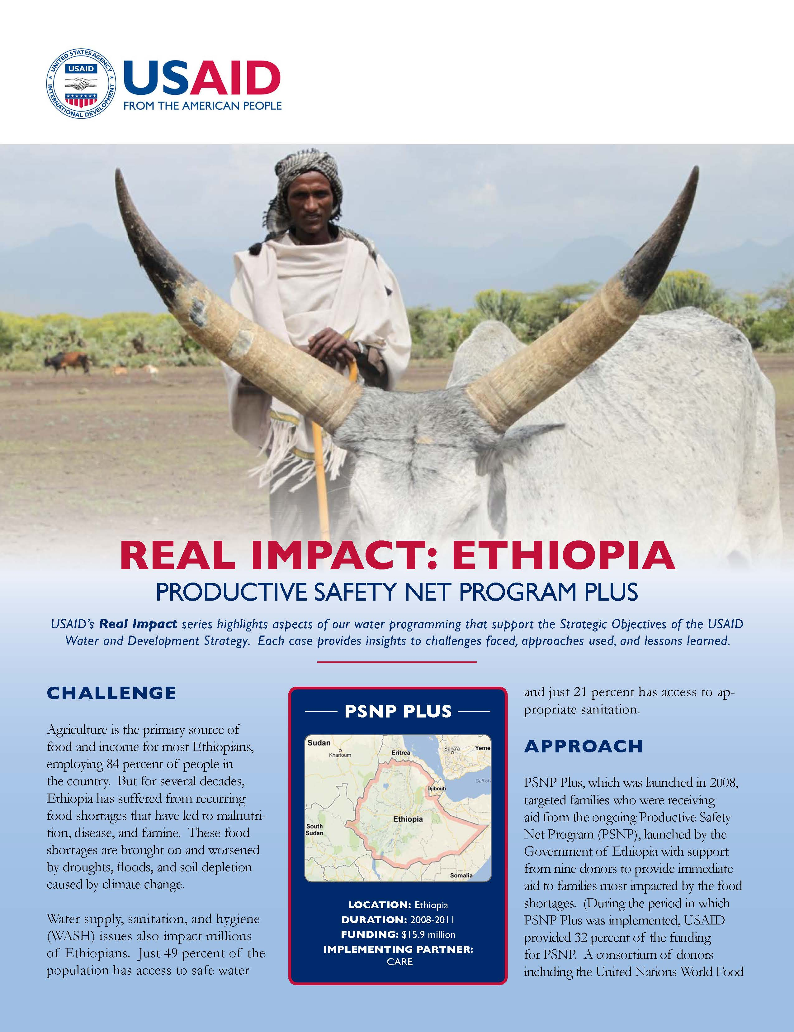Real Impact: Ethiopia – Productive Safety Net Program Plus