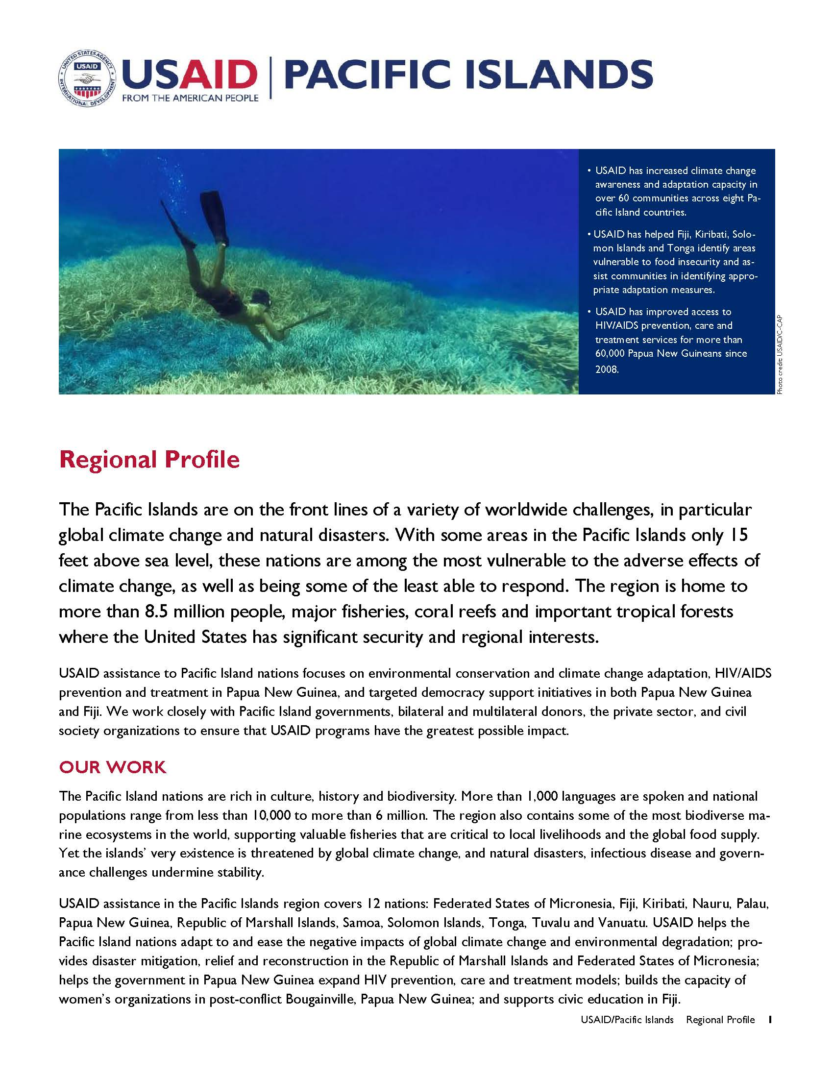 Pacific Islands Regional Profile