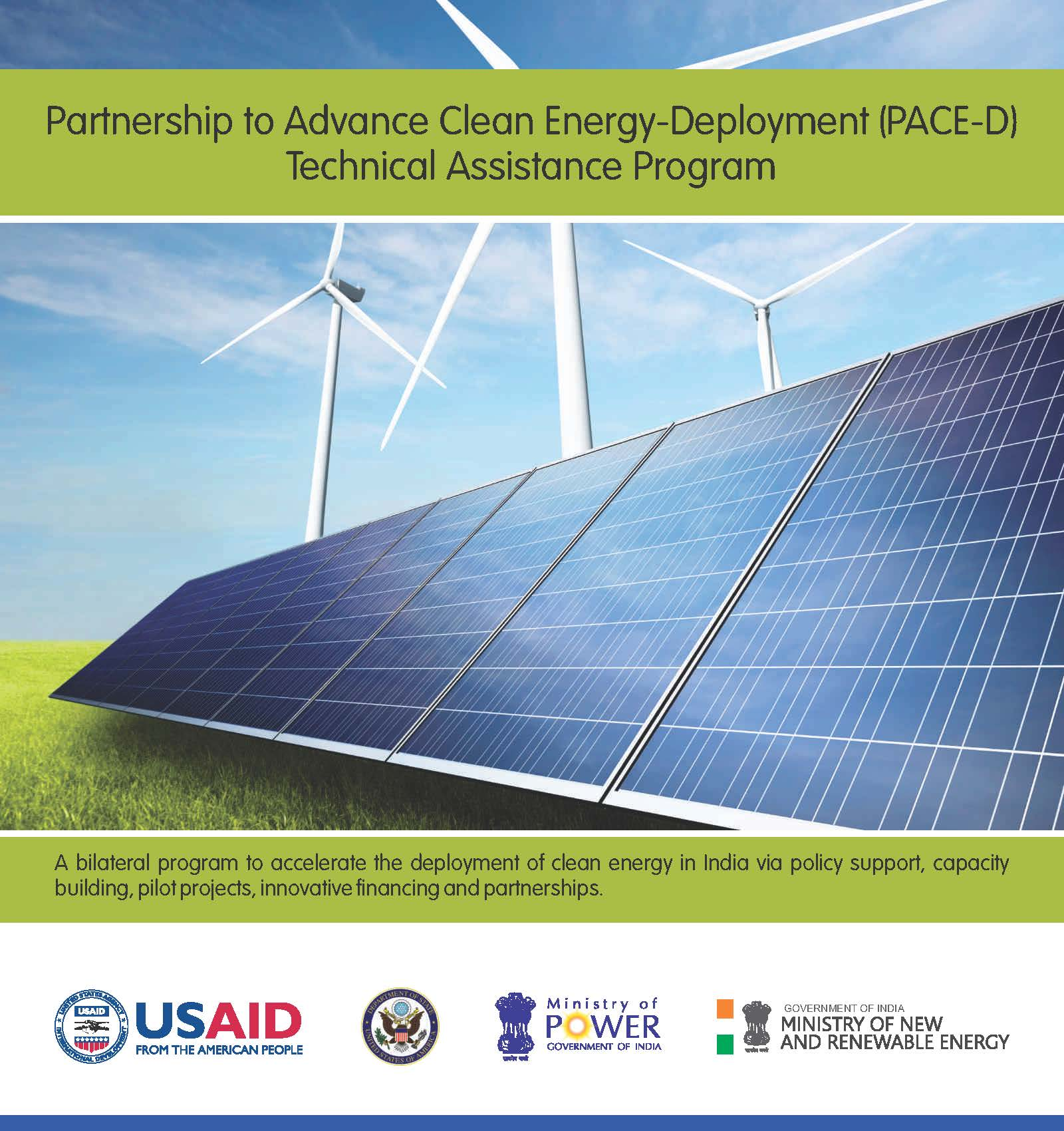 Brochure: Partnership to Advance Clean Energy-Deployment (PACE-D) Technical Assistance Program