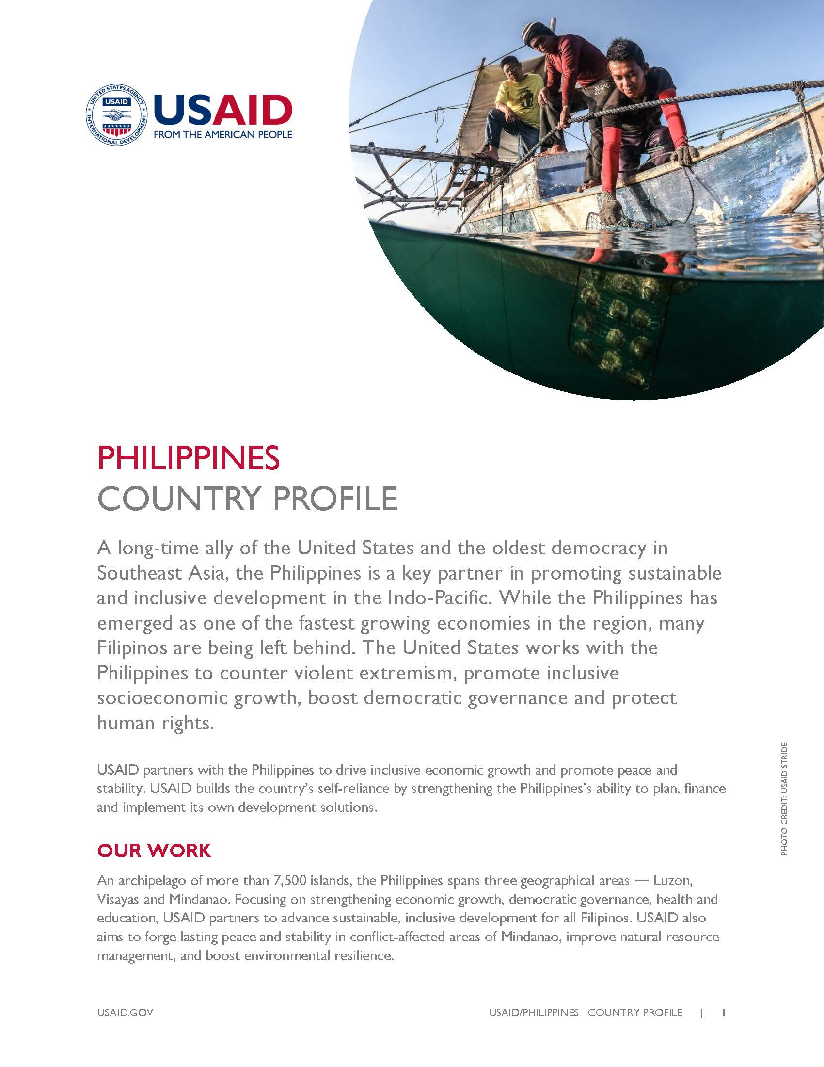 USAID Philippines Country Profile [PDF]
