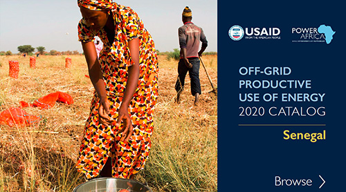 Power Africa Off-grid Productive Use of Energy Catalog - Senegal