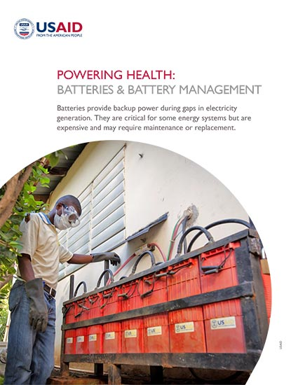 Powering Health: Batteries and Battery Management