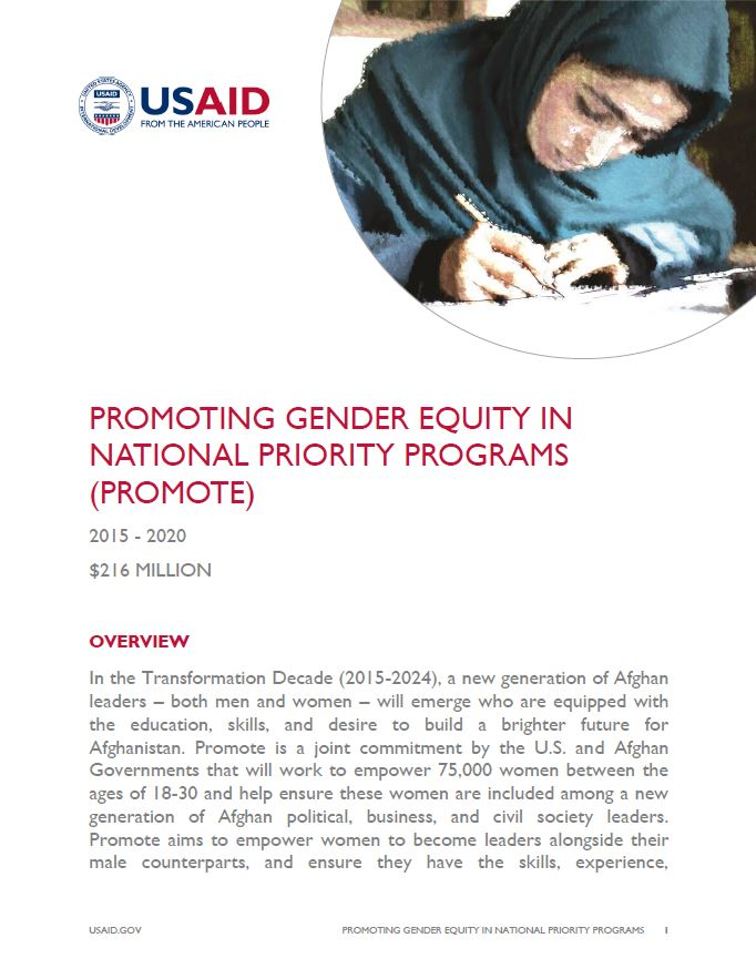 Promoting Gender Equity in National Priority Programs (Promote)