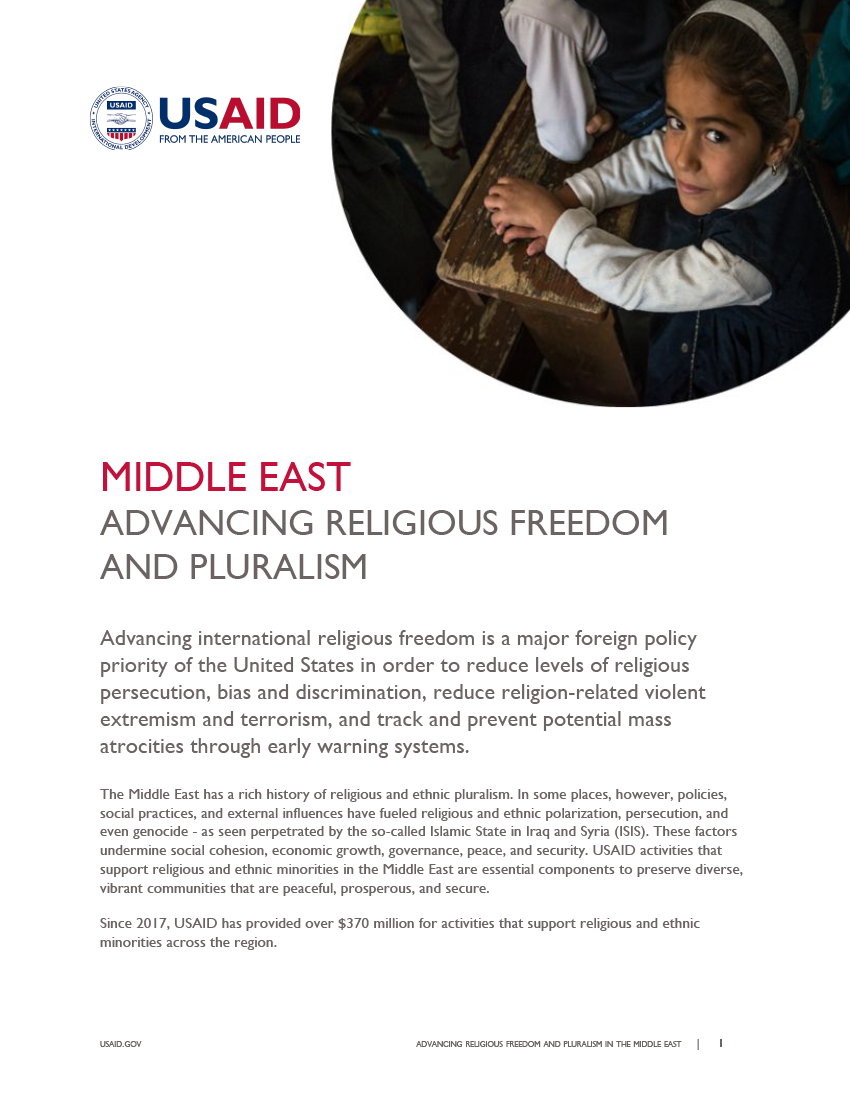 Fact Sheet: Advancing Religious Freedom and Pluralism