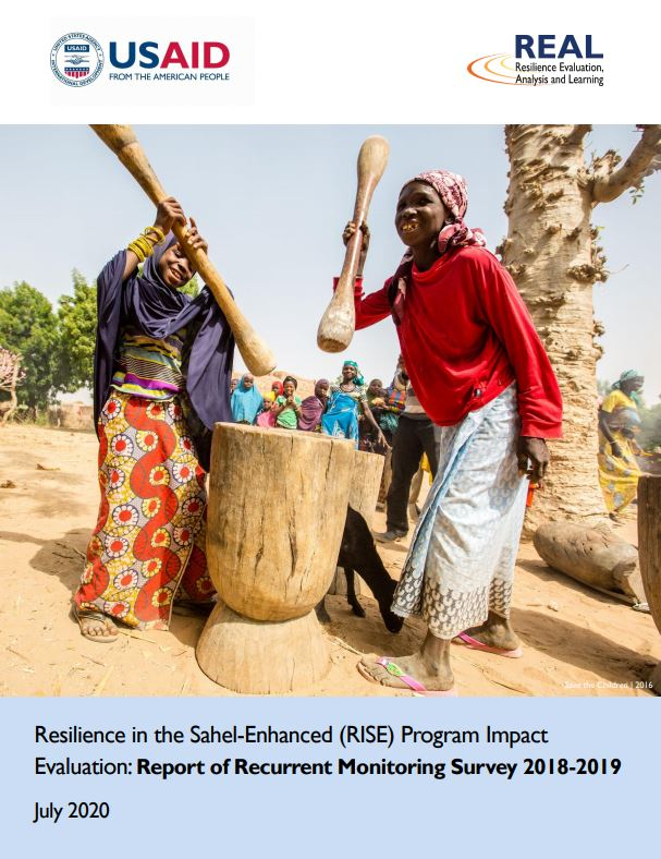 Resilience in the Sahel-Enhanced (RISE) Program Impact Evaluation: Report of Recurrent Monitoring Survey 2018-2019
