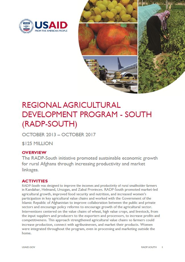 Regional Agricultural Development Program - South (RADP-South)