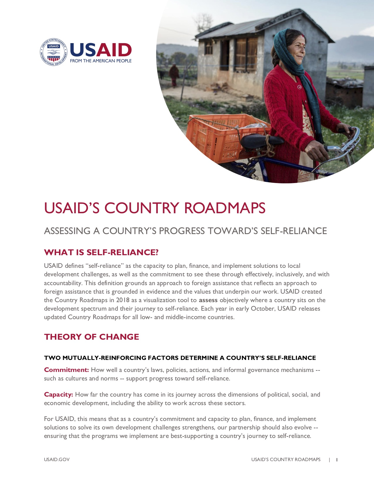 USAID's Country Roadmaps Fact Sheet