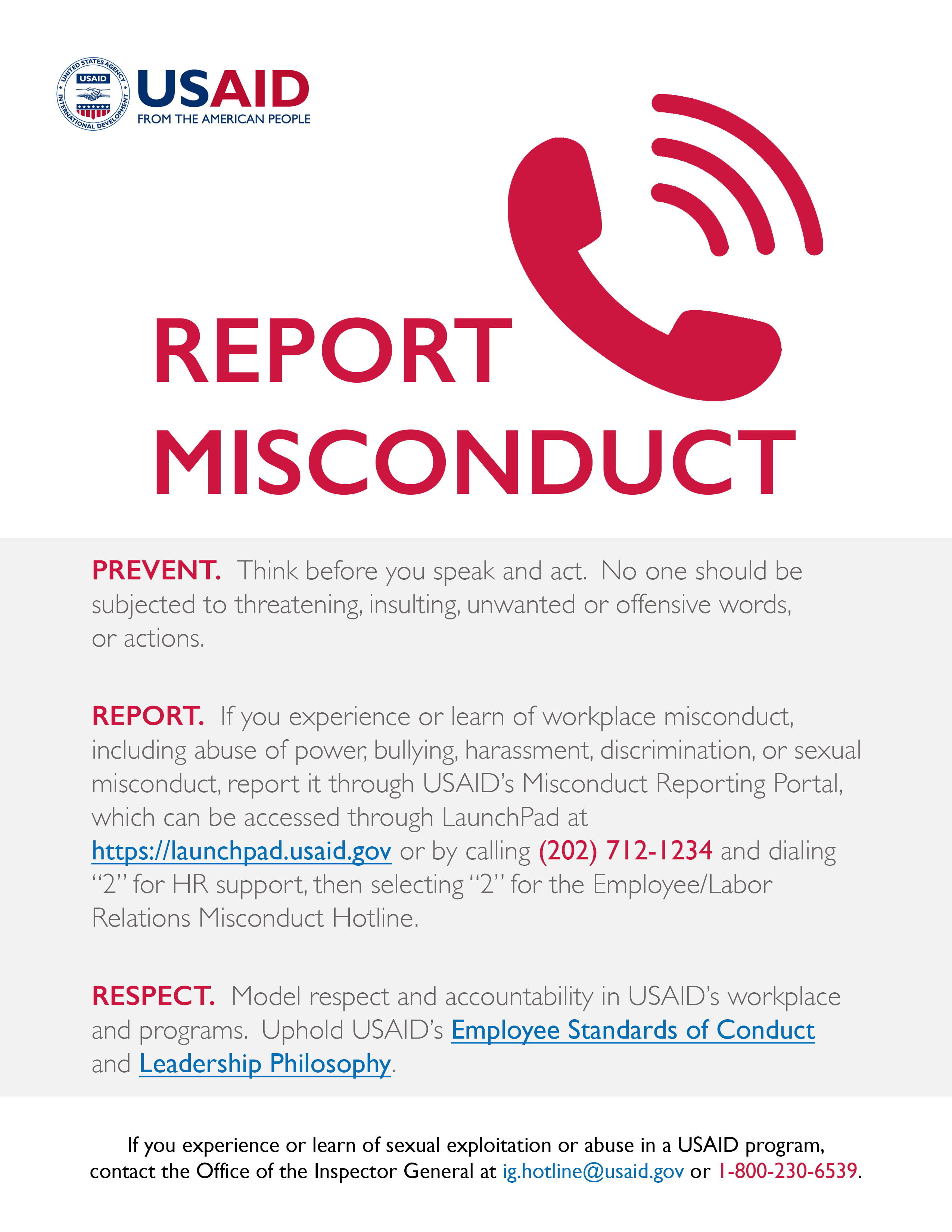 Report Misconduct Poster