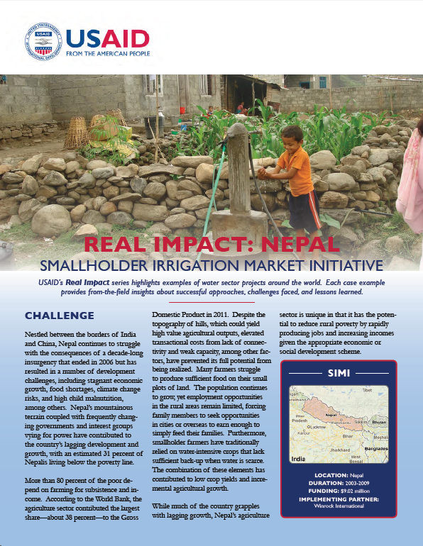 Real Impact: Nepal - Smallholder Irrigation Market Initiative