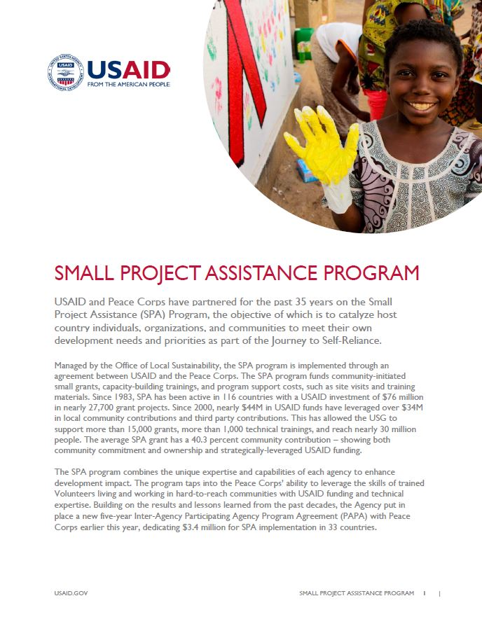 Small Project Assistance Fact Sheet