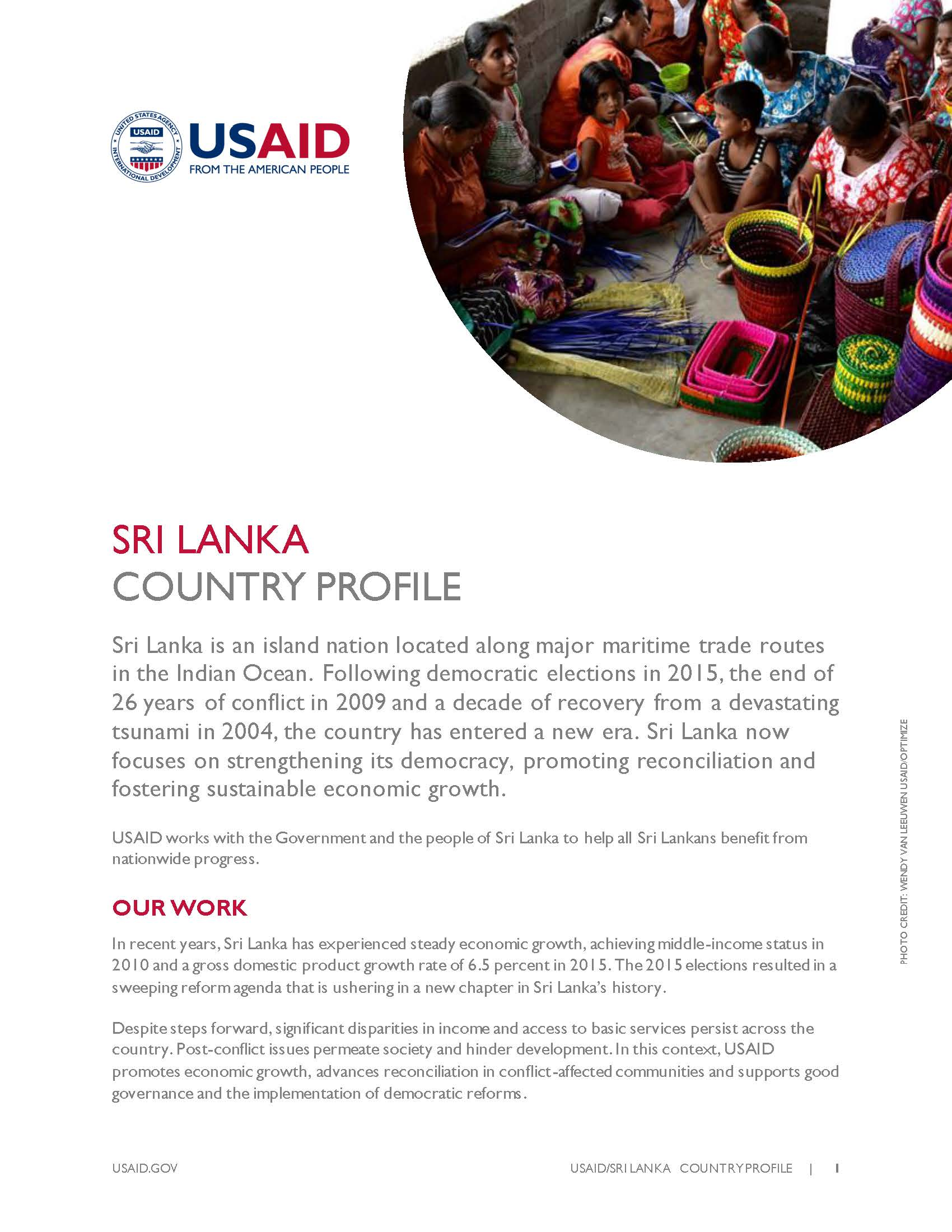 Country Profile Sri Lanka