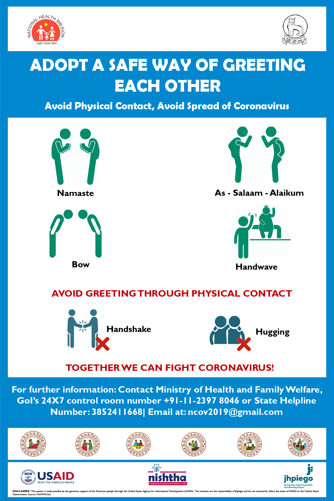 Poster: Adopt A Safe Way of Greeting Each Other