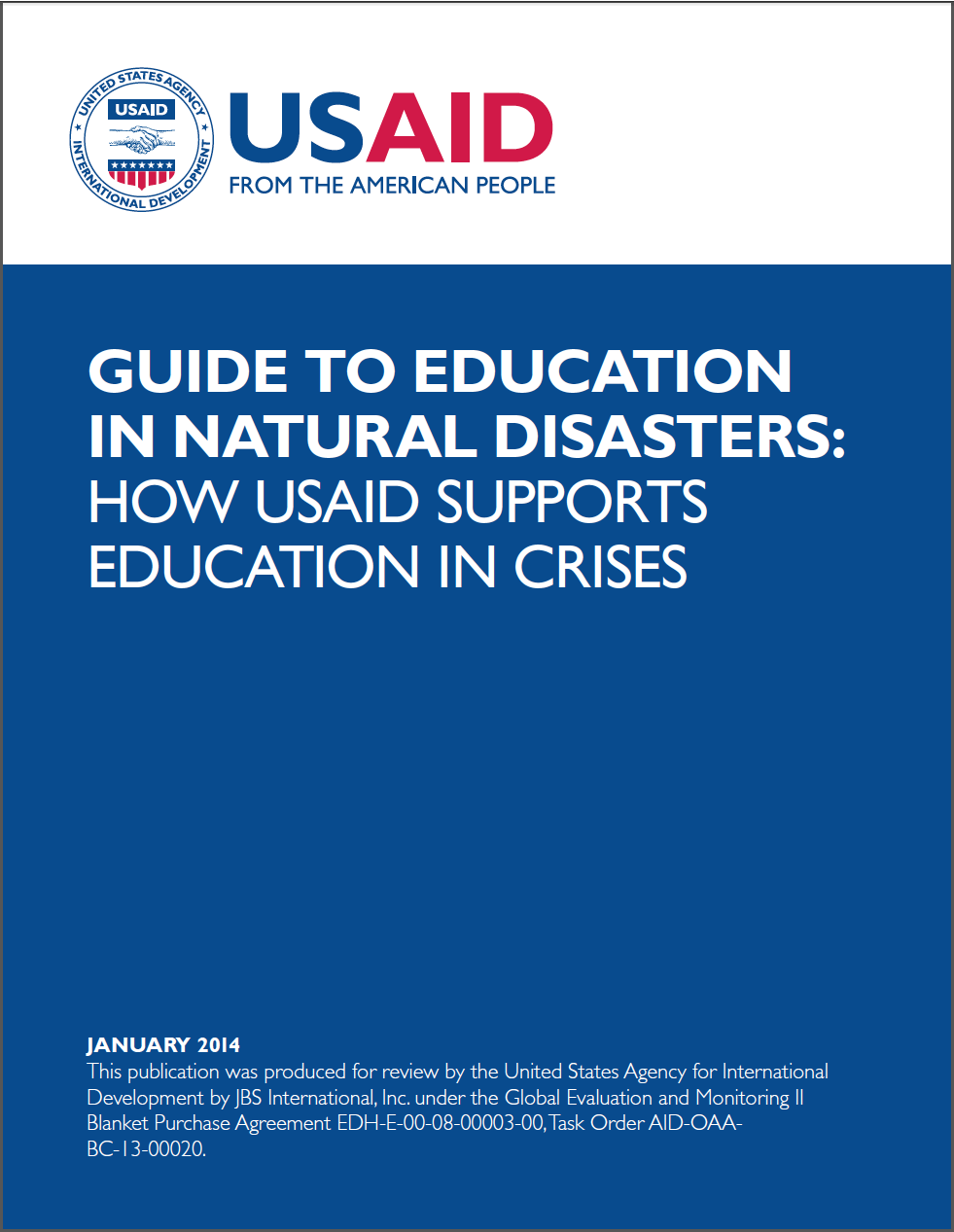Guide to Education in Natural Disasters: How USAID Supports Education in Crises