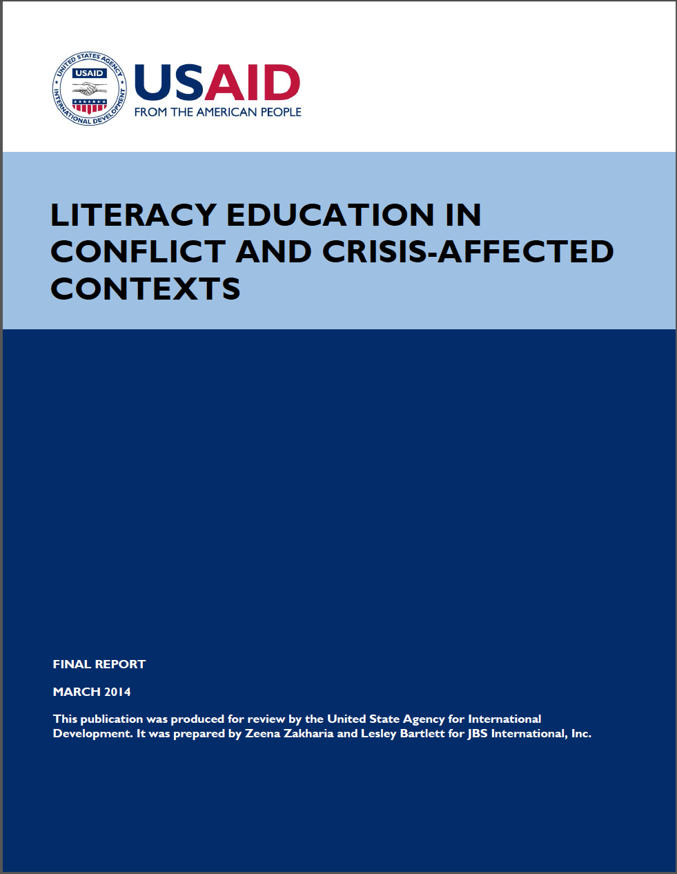 Literacy Education Crisis & Conflict