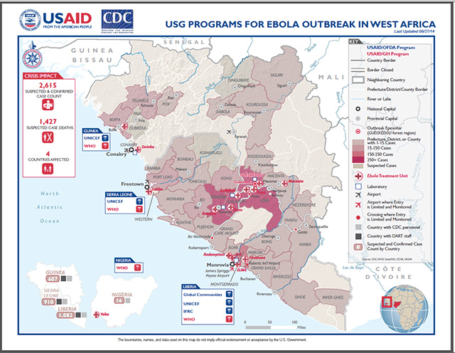 the outbreak of the ebola virus in west africa Suggested citation: european centre for disease prevention and control outbreak of ebola virus disease in west africa sixth update, 13 october 2014.