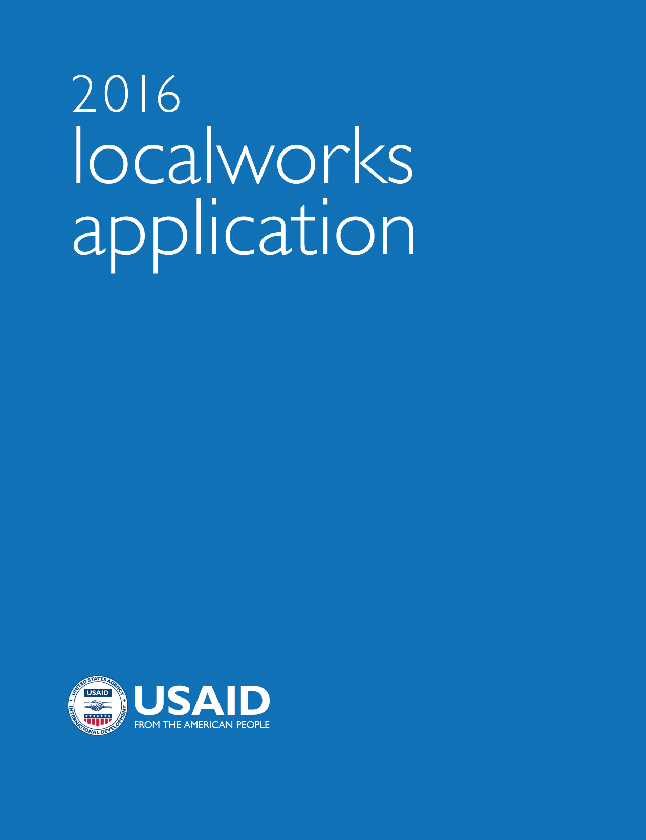 2016 localworks Application (for USAID missions)