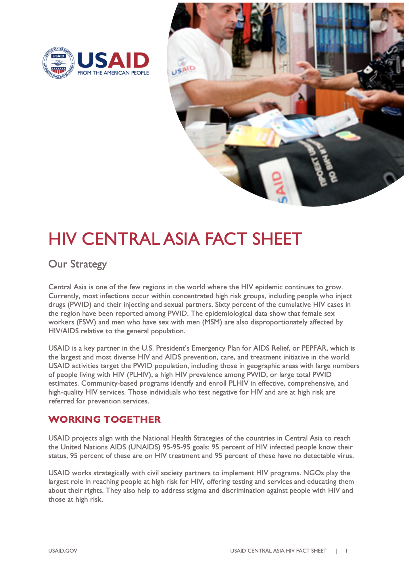 HIV Central Asia Fact Sheet