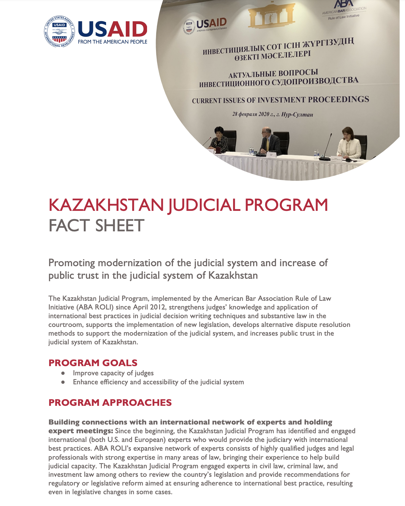 Kazakhstan Judicial Program
