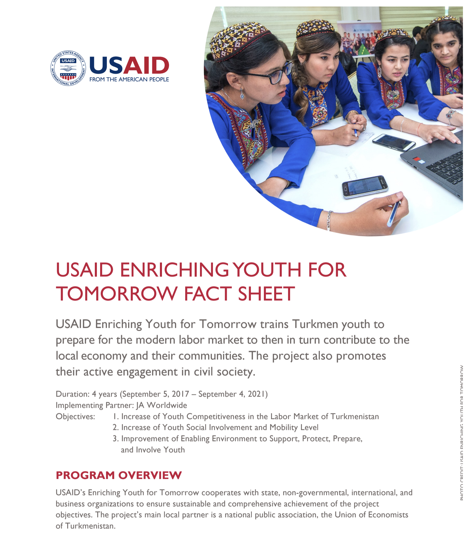 USAID Enriching Youth for Tomorrow