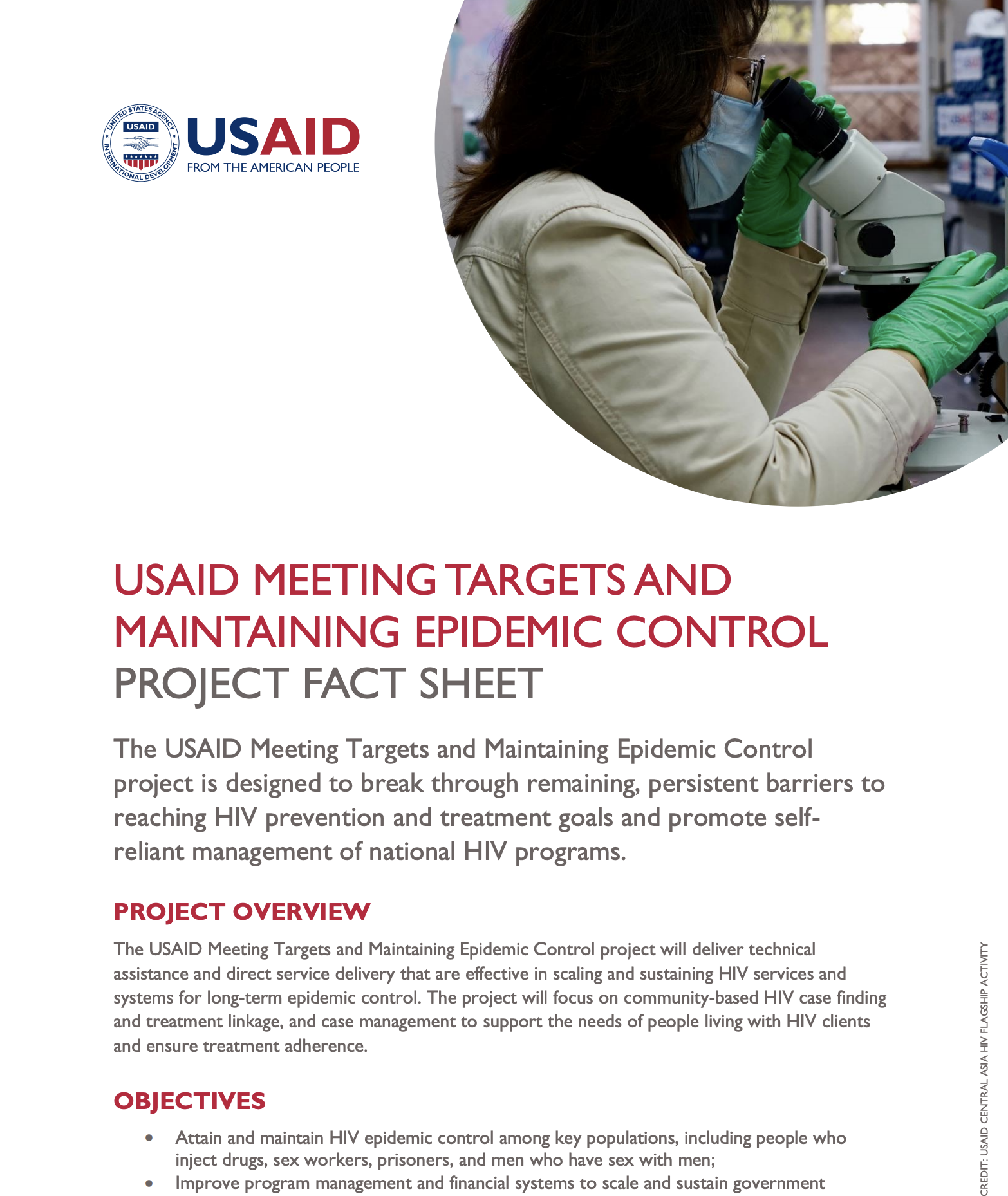 USAID Meeting Targets and Maintaining Epidemic Control