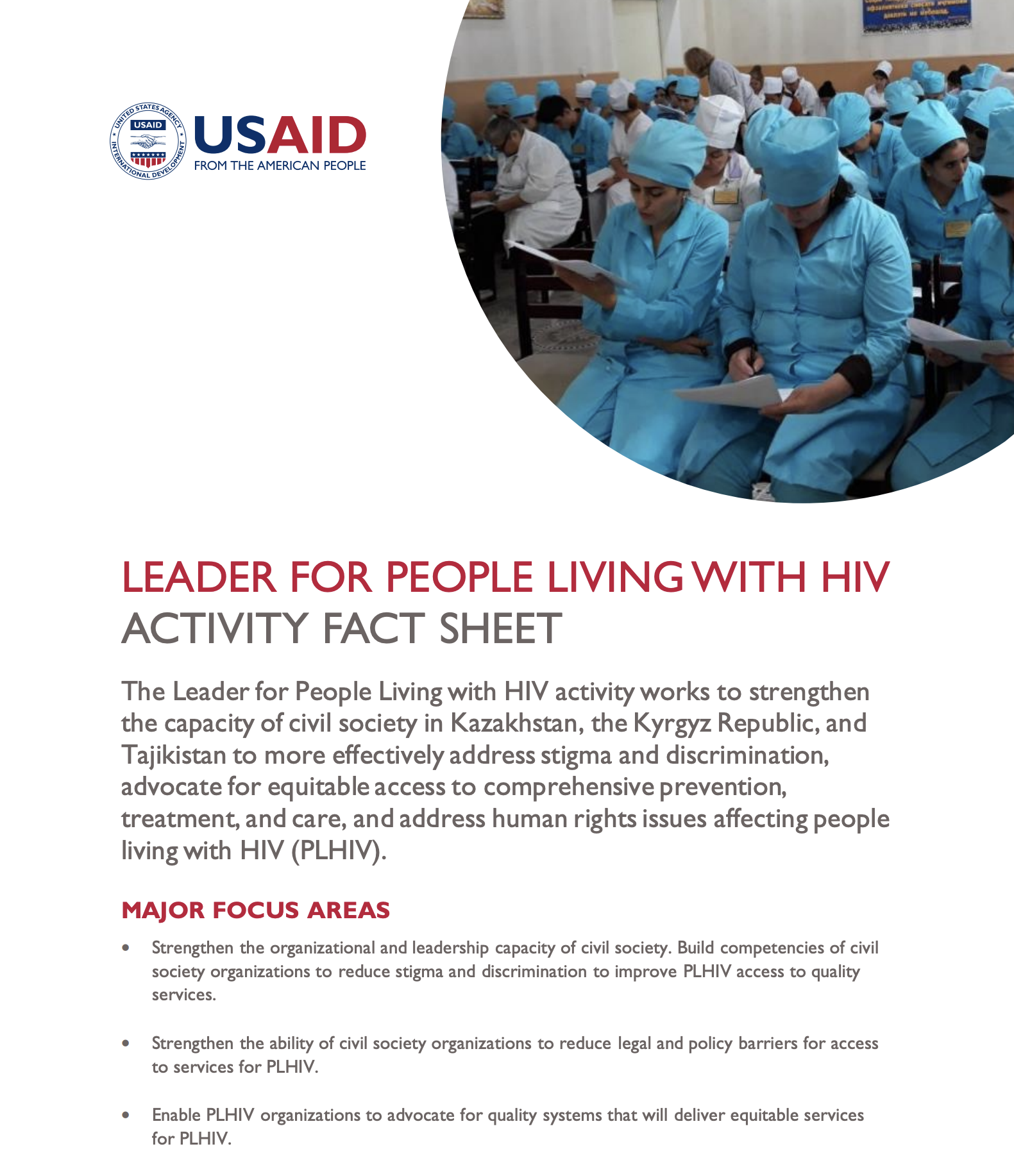 Leader for People Living with HIV