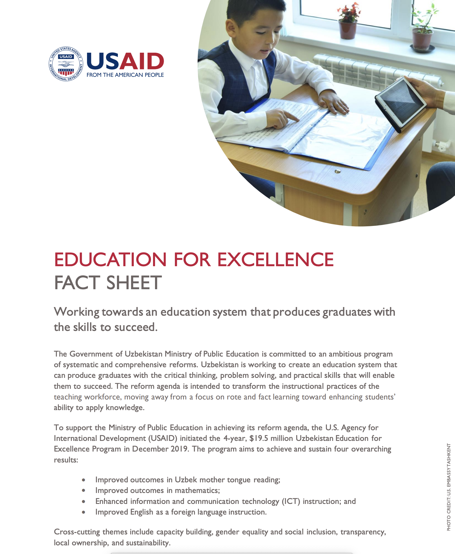 Education for Excellence Fact Sheet