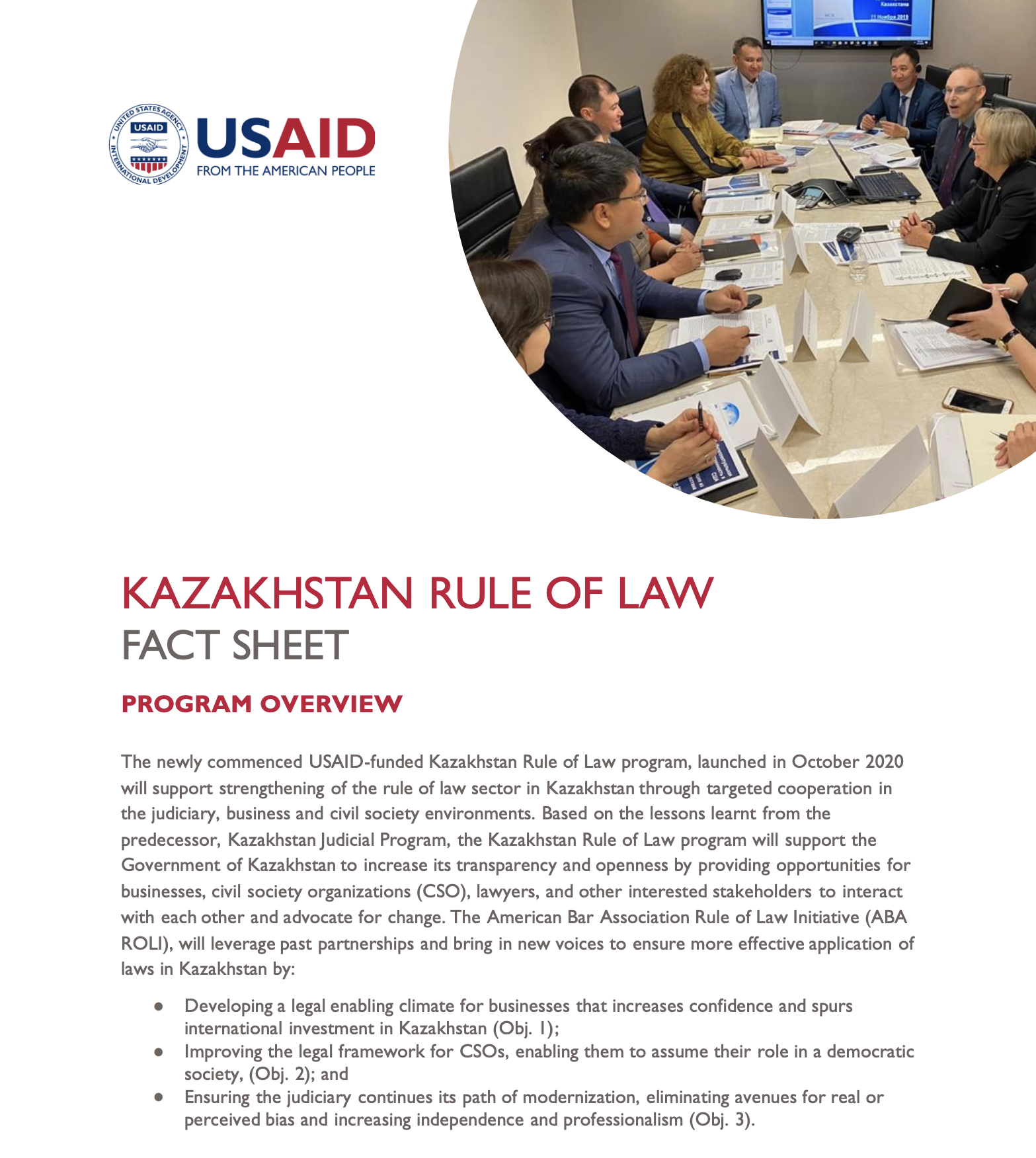 Kazakhstan Rule of Law Fact Sheet