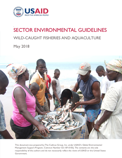 Sector Environmental Guideline: Wild Caught Fisheries and Aquaculture (2018)