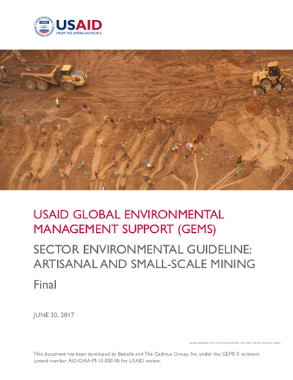 Sector Environmental Guideline: Artisanal and Small-Scale Mining (2017)