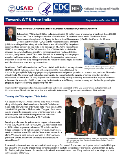 Towards A TB-Free India - September-October 2015