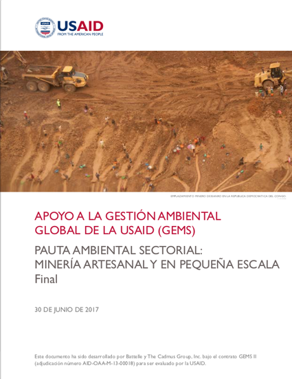 Sector Environmental Guideline: Artisanal and Small-Scale Mining (2017 - Spanish)