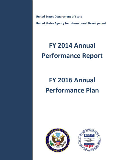 FY2014 USAID Annual Performance Report and FY2016 Annual Performance Plan