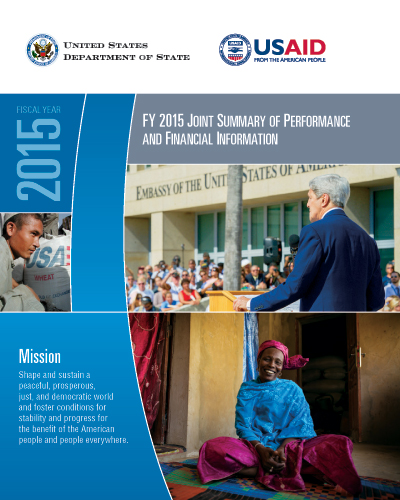 FY 2015 Joint Summary of Performance and Financial Information