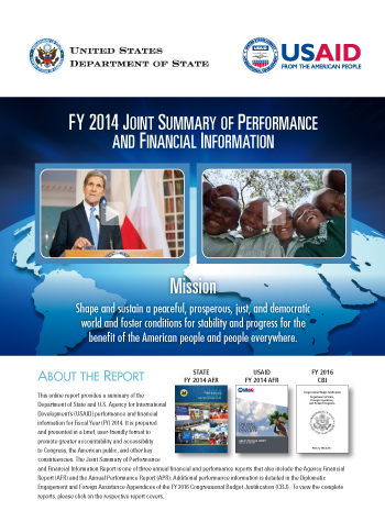 FY 2014 Joint Summary of Performance and Financial Information
