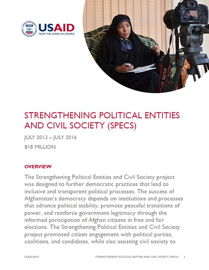 Strengthening Political Entities and Civil Society