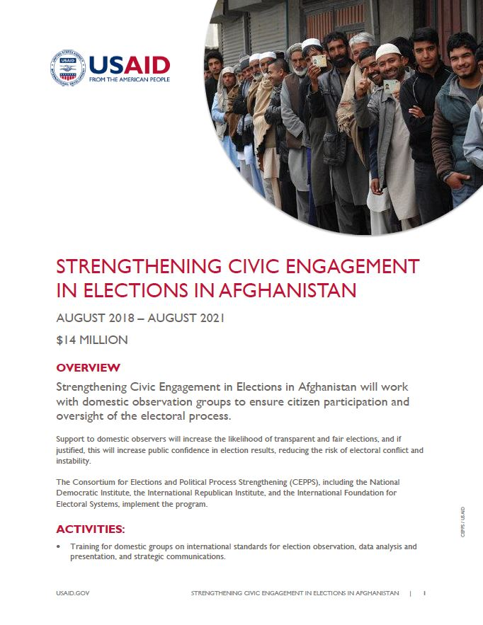 Strengthening Civic Engagement in Elections in Afghanistan