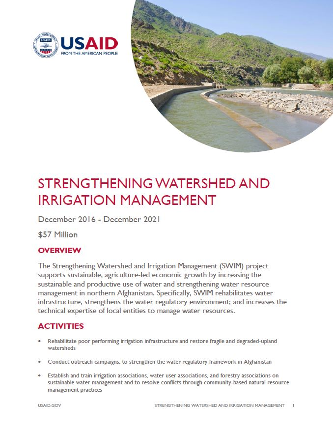 Strengthening Watershed and Irrigation Management